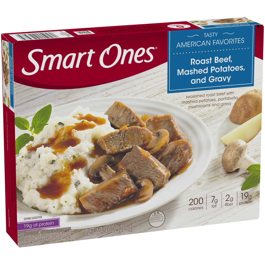 Smart Ones® Tasty American Favorites Roast Beef, Mashed Potatoes, and Gravy 9 oz. Box