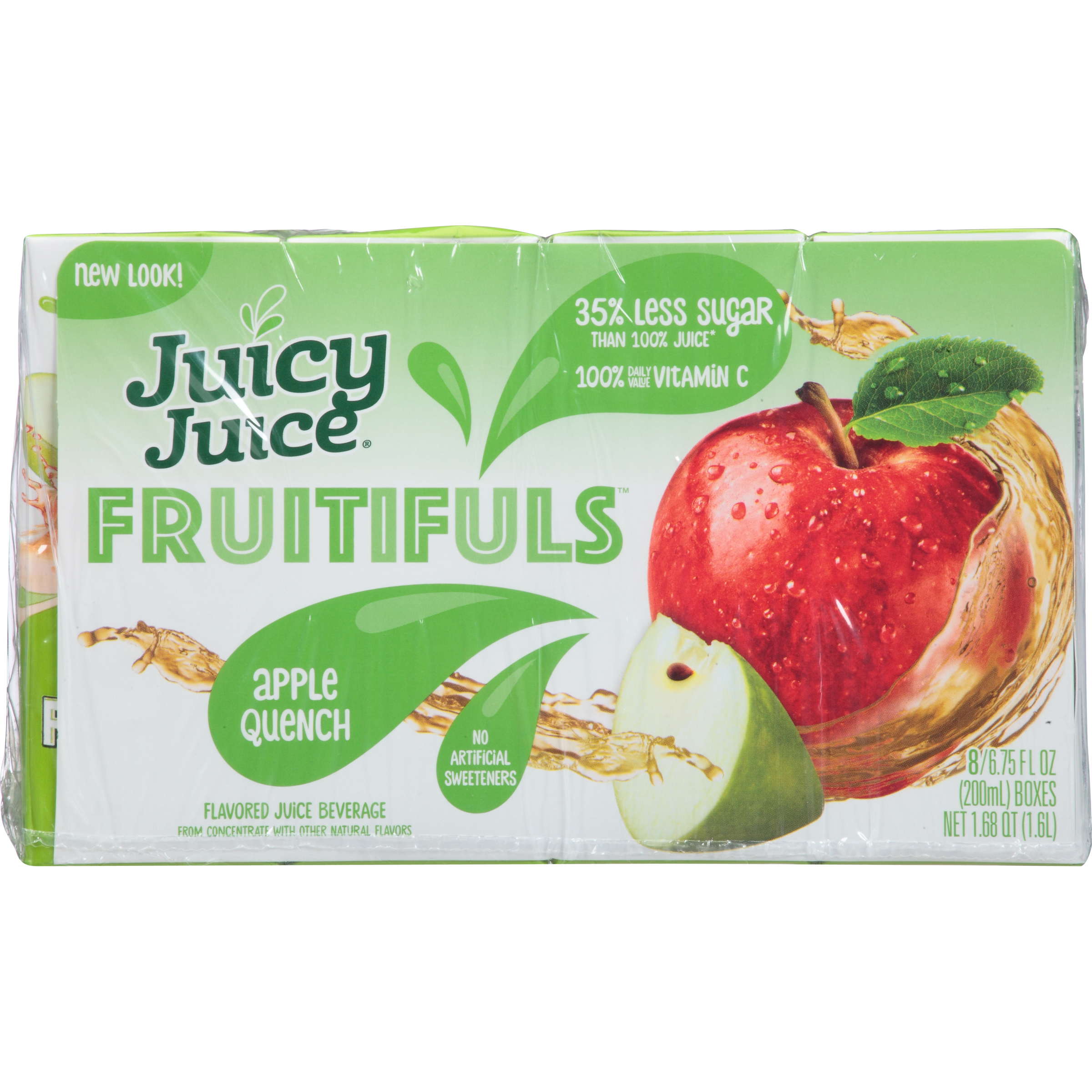 Juicy Juice Organic Fruitifuls, Apple Quench, 6.75 Fl Oz, 8 Count