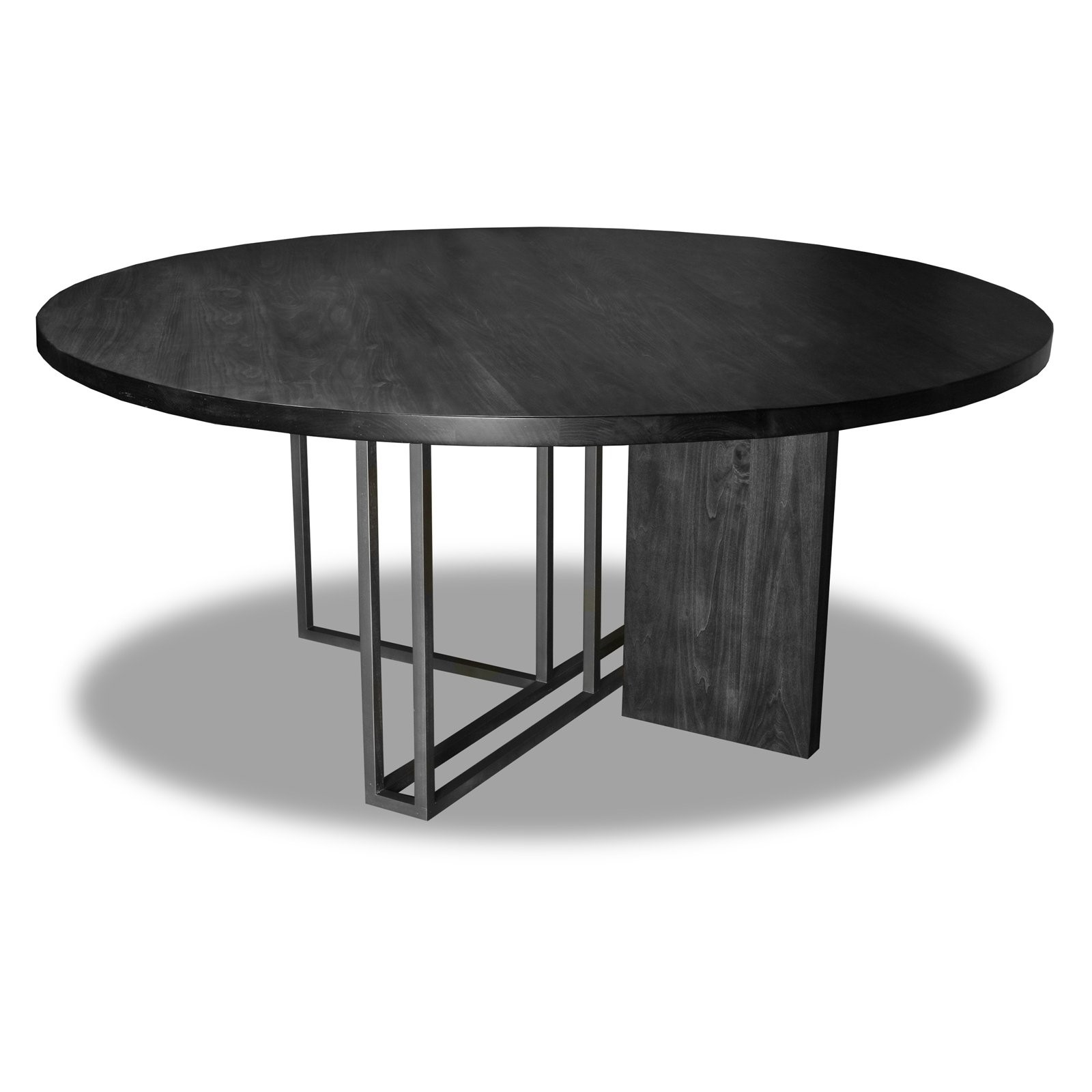 "South Cone Home Highmount Round Dining Table, 48"" Top, Grey"