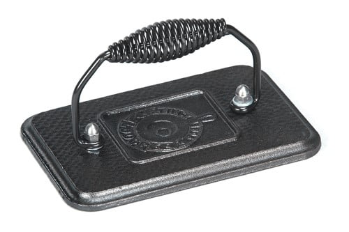 Lodge Cast Iron 6.75 In. x 4.5 In. Grill Press, Black by Lodge Mfg. Co