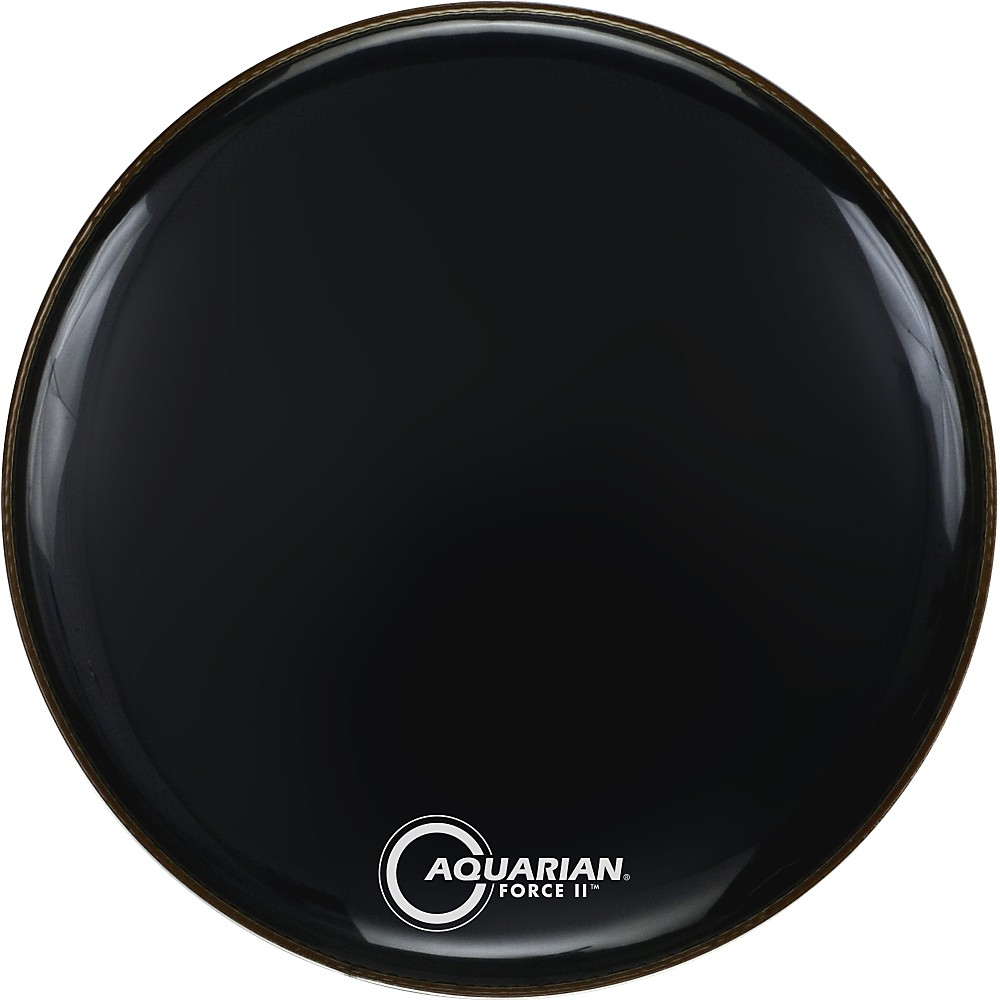 "Aquarian Force II Resonant Bass Drum Head (Gloss Black, 20"") by Aquarian"