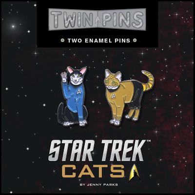 Star Trek Cats Twin Pins : Two Enamel Pins