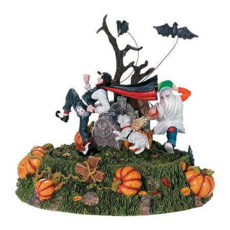 Halloween Snow Village (Department 56 Snow Village Halloween 56.53132 Scaredy Bat Animated)