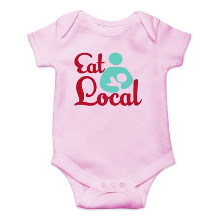 Eat Local - Breastfeeding Support - Cute Lactation - Cute One-Piece Infant Baby Bodysuit