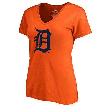 Detroit Tigers Women's Secondary Color Primary Logo T-Shirt - Orange
