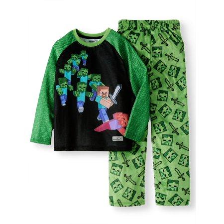 Minecraft Fleece 2 Piece Pajama Sleep Set (Little Boy & Big Boy)