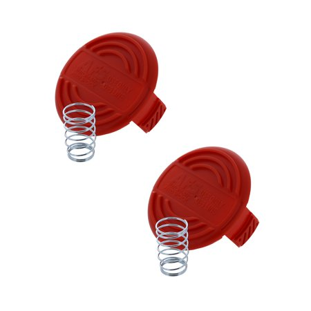 Black & Decker OEM RC-100-P (2 Pack) spool cap and spring string trimmer - Trimmer Pack