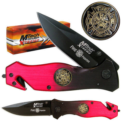 "Whetstone 8"" Xtreme Fire Fighter Folding Pocket Knife"