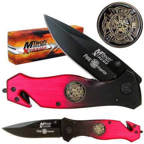 "Whetstone 8"" Xtreme Fire Fighter Folding Pocket Knife"