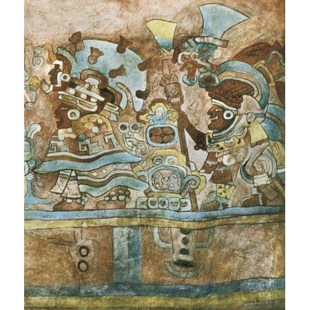 Interior Collection - Mexico Oaxaca Monte Albn Frescos In The Interior Of The Grave 105 Zapotec Art Fresco  AisaEverett Collection Poster Print