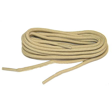 36 Inch 91 cm Light Tan Brown proBOOT(tm) Rugged Wear Round Boot Shoelaces (2 pair - Lighted Shoelaces