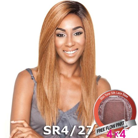 Brown Sugar Human Hair Blend Silk Lace Wig - BS604 (1B Off Black)
