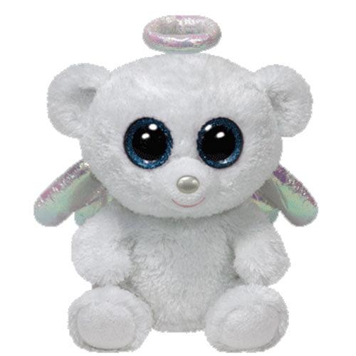 TY Beanie Boos - HALO the White Angel Bear (Glitter Eyes) (Regular Size - 6  inch) - Walmart.com 344917b90a9