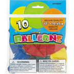 12'' Latex Assorted Solid Color Balloons, 10ct