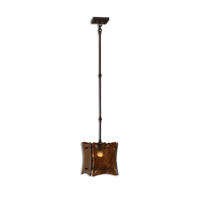 Mini Pendants 1 Light With Oil Rubbed Bronze Finish Metal and Glass Material 9 inch 100 Watts