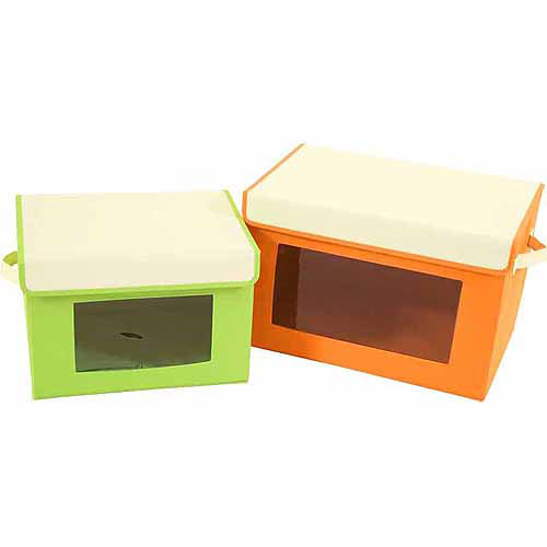 Seville Classics Window Foldable Storage Boxes Set, 2pk