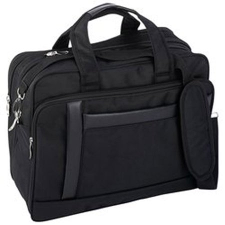 New Maxam 16 Inch Nylon Expandable Briefcase/Computer Bag Multiple Zippered Compartments