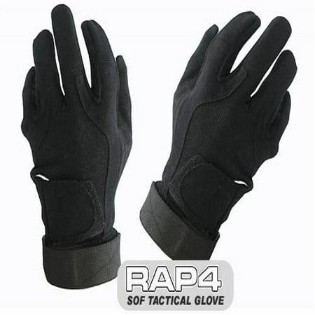 SOF Tactical Gloves (Full Finger - Black) 2X Large - paintball gloves