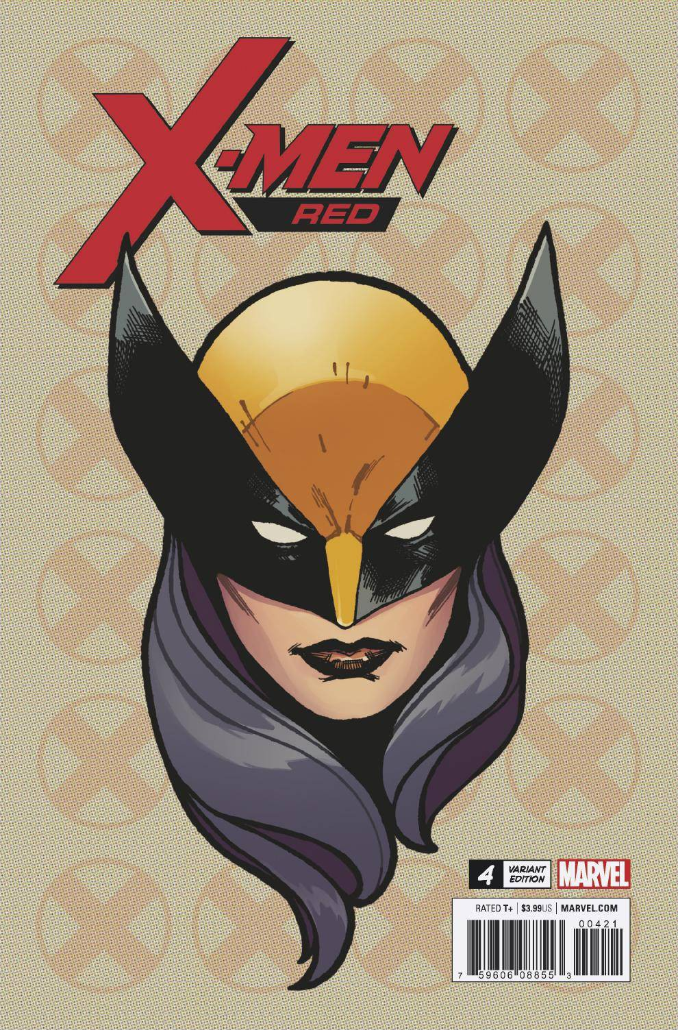 Marvel X-Men Red #4 [Charset Headshot Variant] by