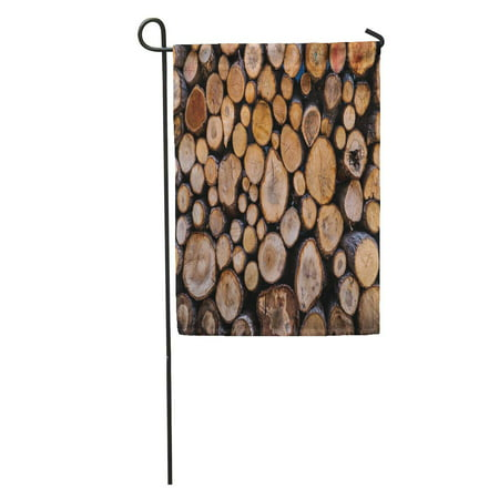 SIDONKU Silver Lodge Firewood Wood Hunting Fireplace Country Stack Stove Chalet Garden Flag Decorative Flag House Banner 12x18 inch ()