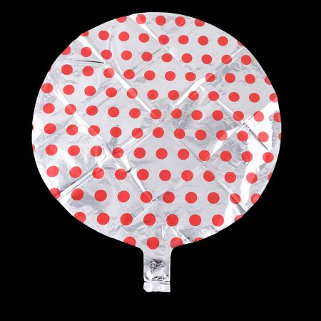 Unique Bargains Foil Dot Pattern Round Shaped Balloon Wedding Celebration Silver Tone 18 Inch - image 1 of 4