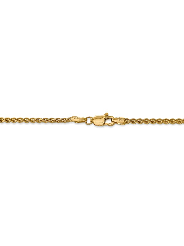 """1.25mm 14K White Gold Wheat Chain 14/"""" 16/"""" 18/"""" 20/"""" 24/"""" or 30/"""""""