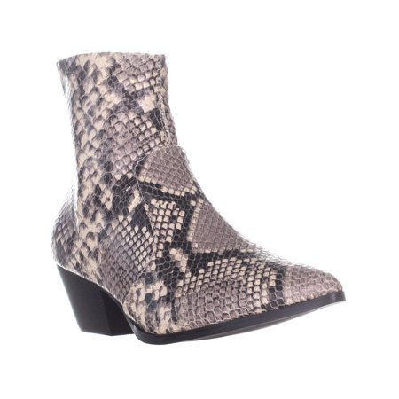 1152c66b2ad Womens Steve Madden Cafe Pointed Toe Rear Zip Ankle Boots, Natural Snake