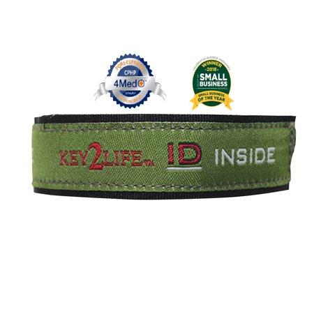 Waterproof EMR Velcro Sport Bracelet Color Green