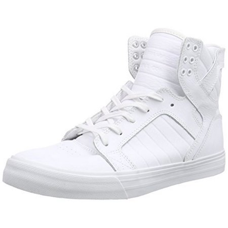 Supra Mens Skytop, White/White/Red, 13