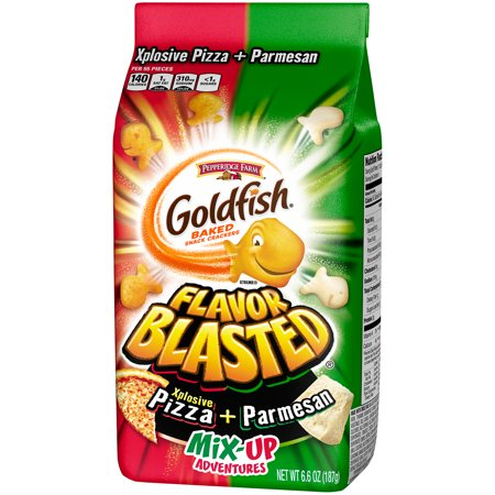 Goldfish Flavor Blasted Xplosive Pizza + Parmesan Mix ...