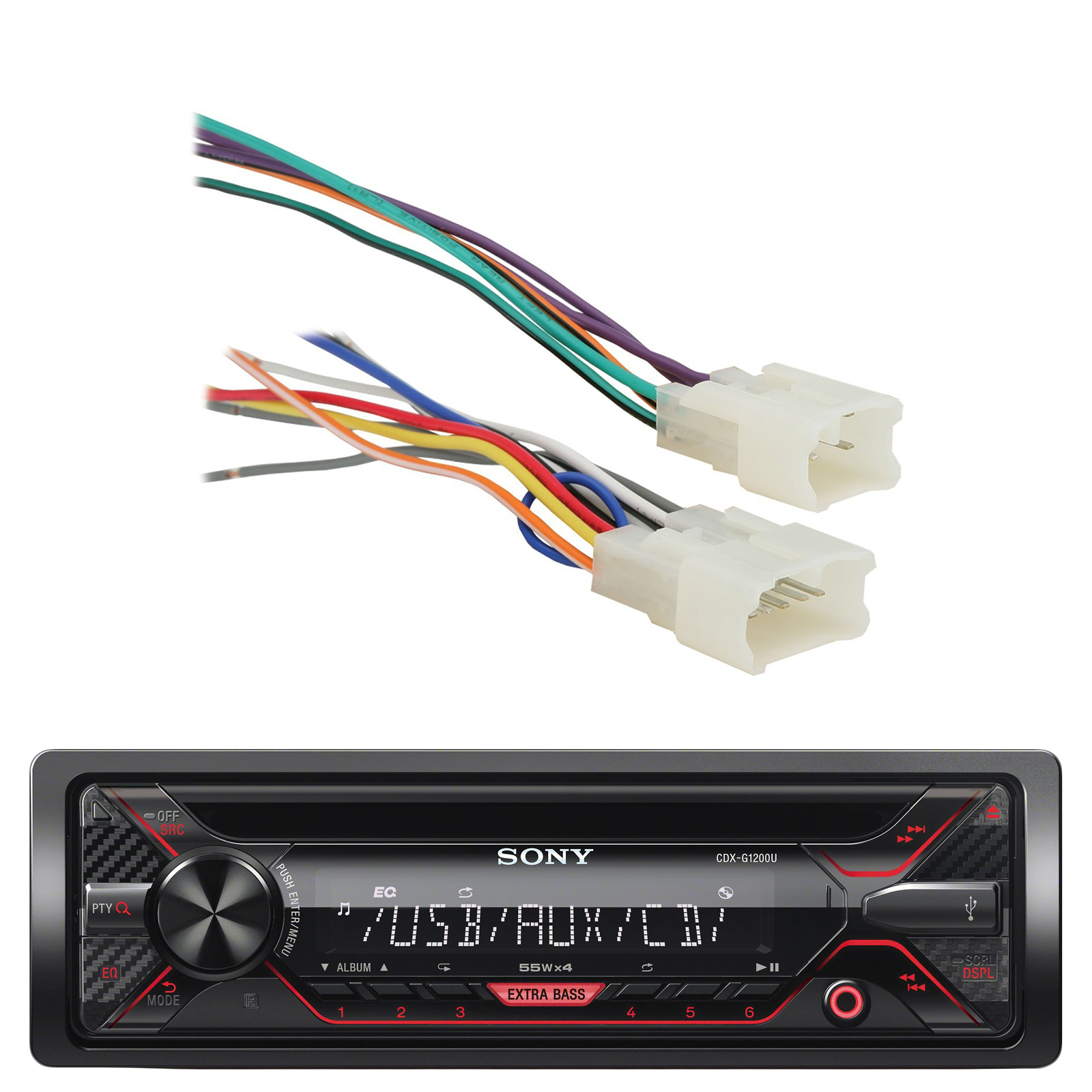 Toyota Wire Harness Sony Wiring Library Cdx G1200u 55w Am Fm Cd Mp3 Receiver With Enhanced Smartphone Connectivity Metra