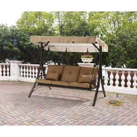 Mainstays Lawson Ridge Converting Outdoor Swing Hammock Seats 3