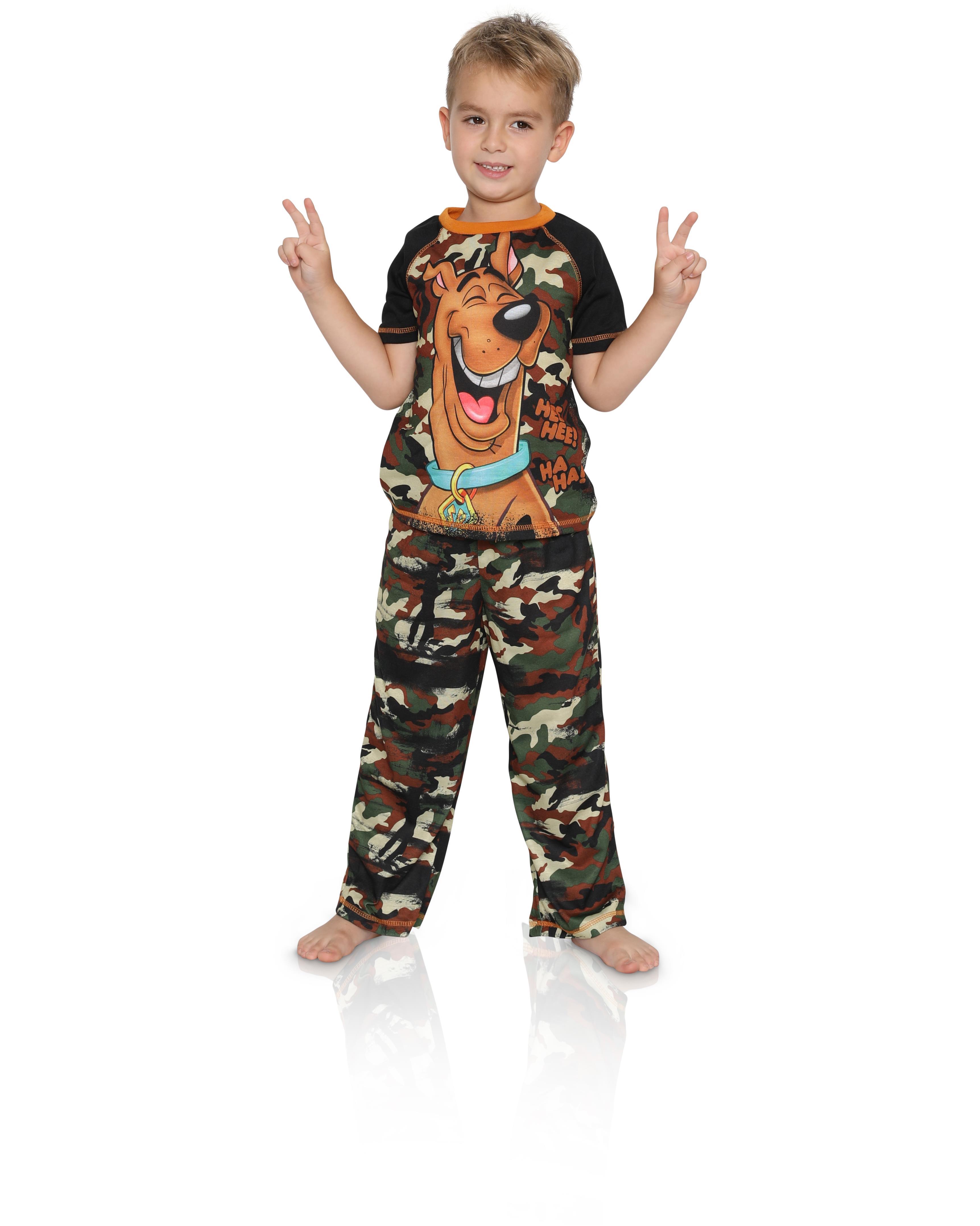Scooby Doo Boys 2 Piece Jersey Pajama Set Pajama Set