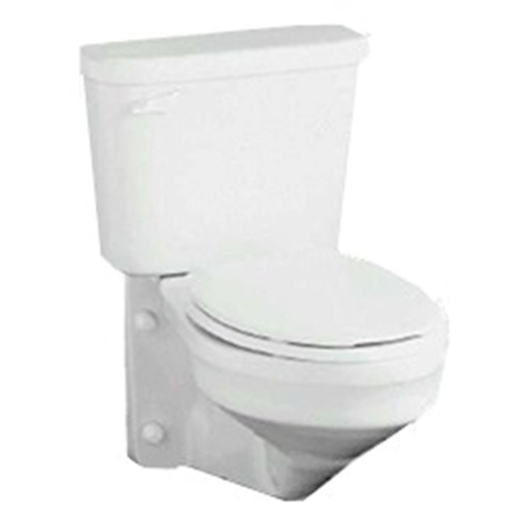 Crane 3217 Wall Mount Elong Toilet Bowl with Tank White
