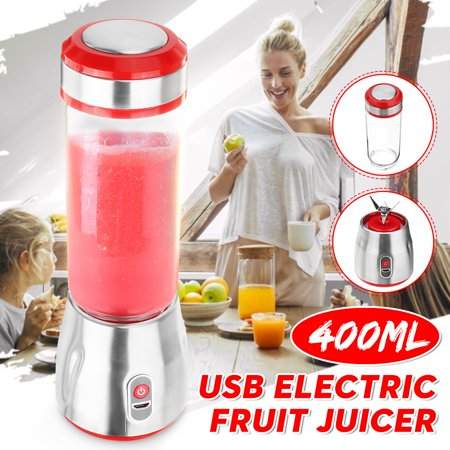 Electric Fruit Juicer Smoothie Blender Portable Fruit Mixing Machine Spinner Stainless Steel Mini Nutrient Extraction USB Juice Maker for