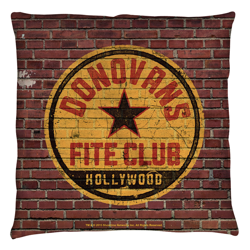Ray Donovan Fite Club Throw Pillow White 18X18