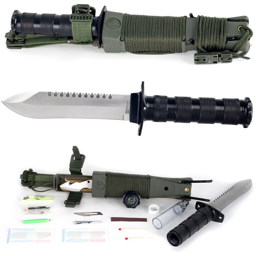 Whetstone Anchored Eagle Survival Knife with Sheath