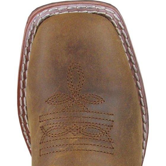 184ffbf3ab9 smoky mountain boys brown/green jesse square toe western cowboy boot