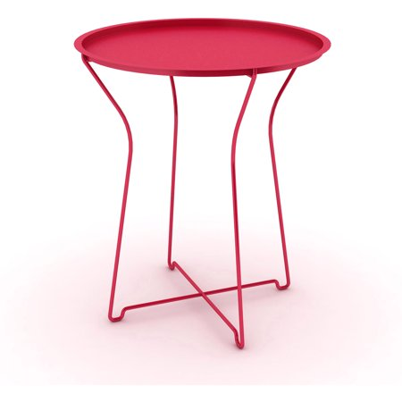 Atlantic Furniture Metal Portable Round Side-Table