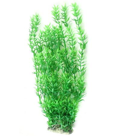 Green Fish Tank Ornament Artificial Ceramic Base Aquatic Plant Grass 14