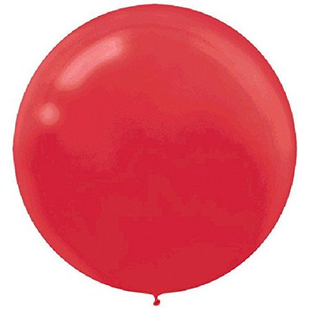 Round Latex Balloons | Apple Red | Pack of 4 | Party Decor - Balloon Avalanche