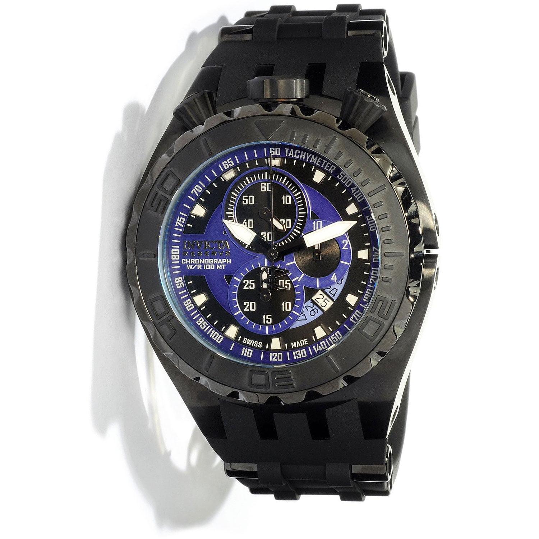 Invicta 0891 Men's Reserve Chronograph Black Rubber Strap Watch