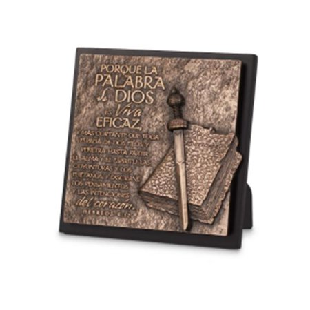 Lighthouse Christian Products 089110 Sculpture Plaque-Moments of Faith - Word of God-Spanish - No. 17973 - image 1 of 1