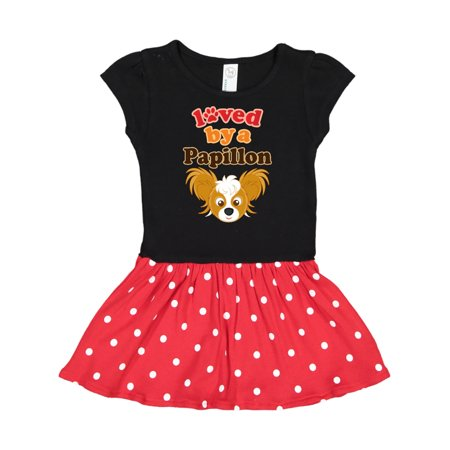 Papillon Dog Gift Infant Dress
