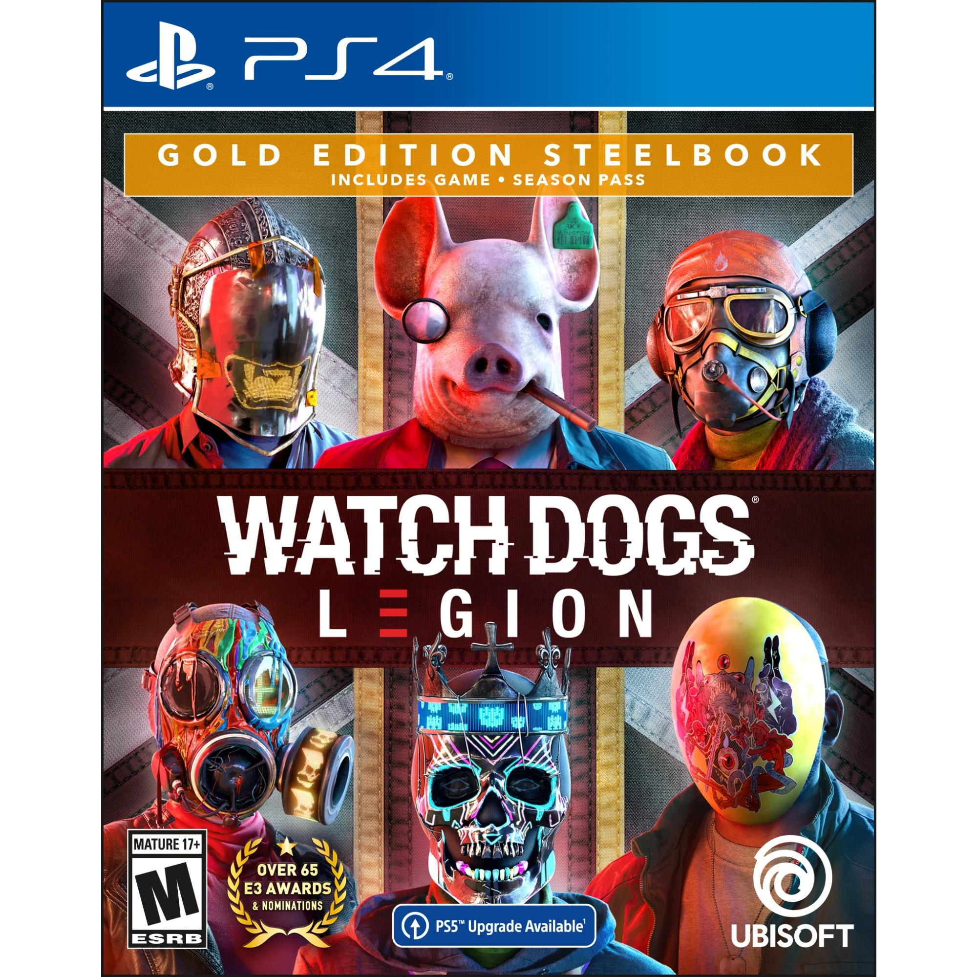 Watch Dogs Legion Playstation 4 Gold Steelbook Edition With Free Upgrade To The Digital Ps5 Version Walmart Com Walmart Com