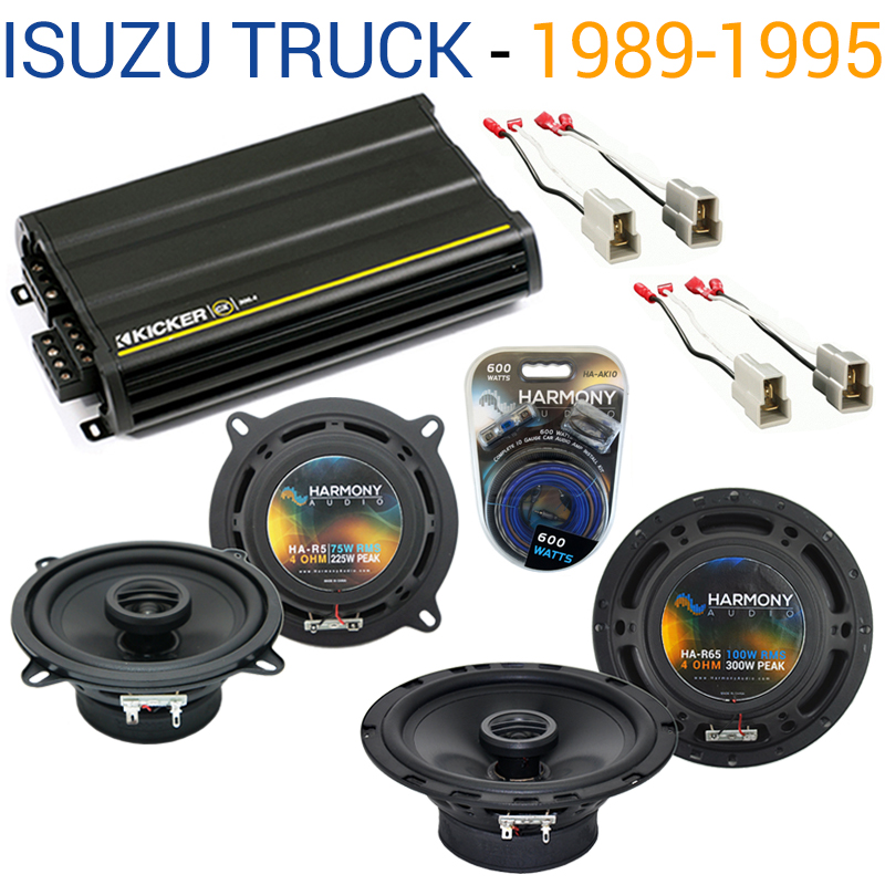Isuzu Truck 1989-1995 OEM Speaker Replacement Harmony R5 R65 & CX300.4 Amp - Factory Certified Refurbished
