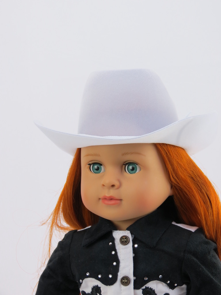 """White Cowgirl / Cowboy Hat for 18"""" Dolls