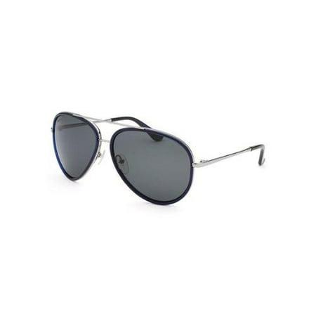Salvatore Ferragamo SF146S 424 Blue/Silver Aviator Sunglasses