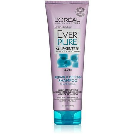 6 Pack - L'Oreal Paris Hair Expertise EverPure Shampoo, Repair & Defend 8.5