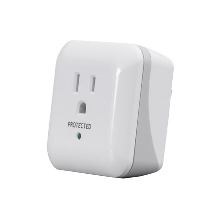 1 Outlet Surge Protector with End of Service Alarm, 900 Joules, White